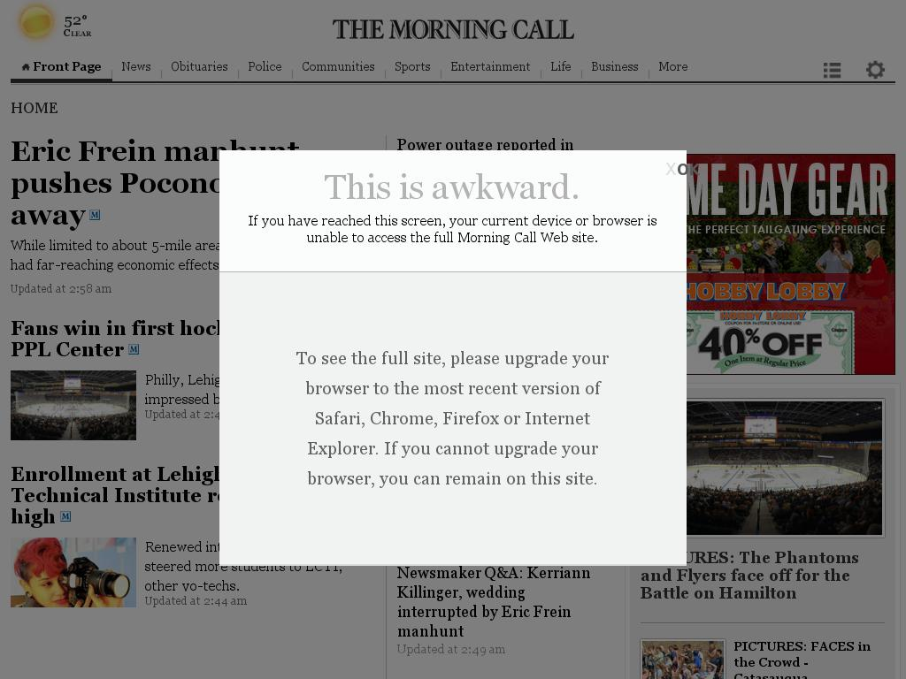 The (Allentown) Morning Call at Sunday Sept. 28, 2014, 11:09 a.m. UTC