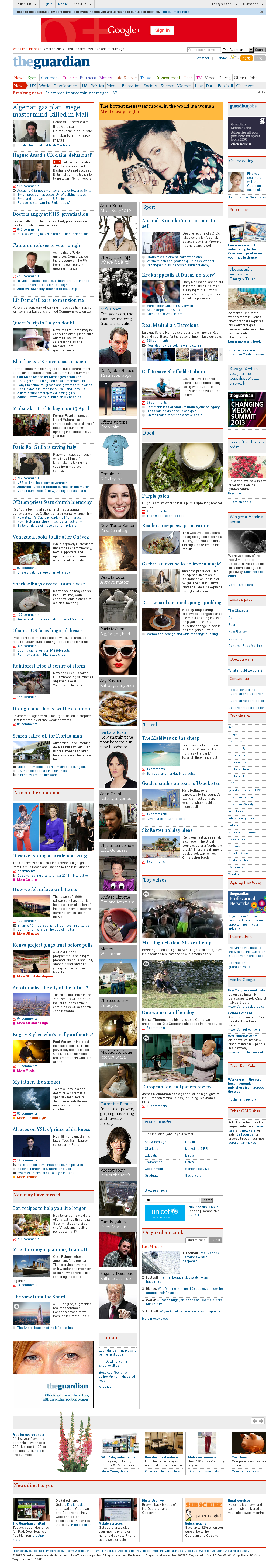 The Guardian at Sunday March 3, 2013, 12:07 p.m. UTC
