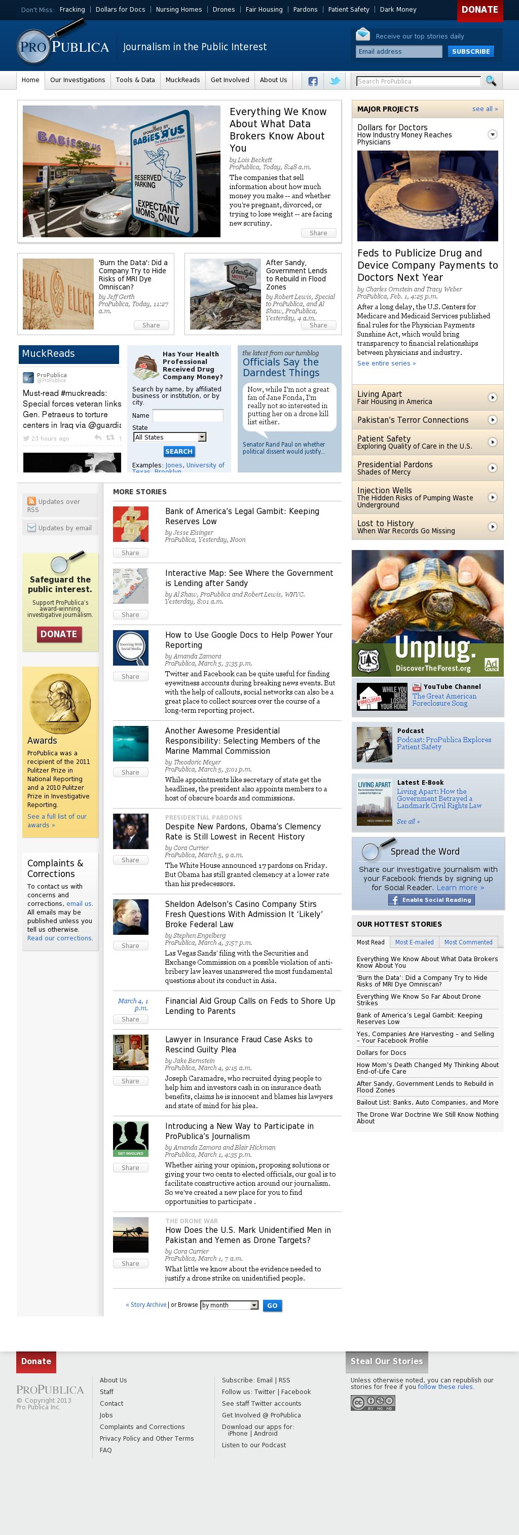 ProPublica at Friday March 8, 2013, 2:17 a.m. UTC