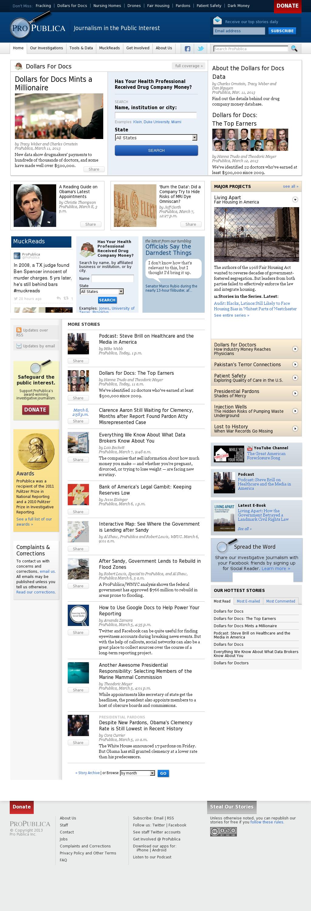 ProPublica at Tuesday March 12, 2013, 7:17 p.m. UTC
