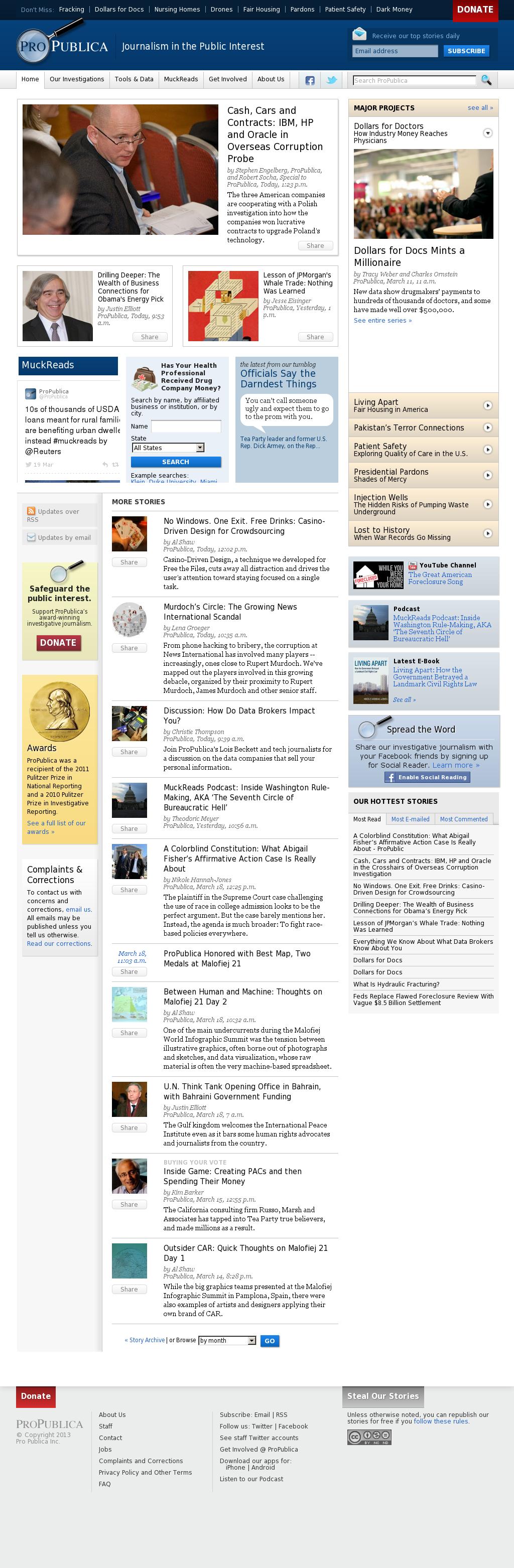 ProPublica at Wednesday March 20, 2013, 10:20 p.m. UTC