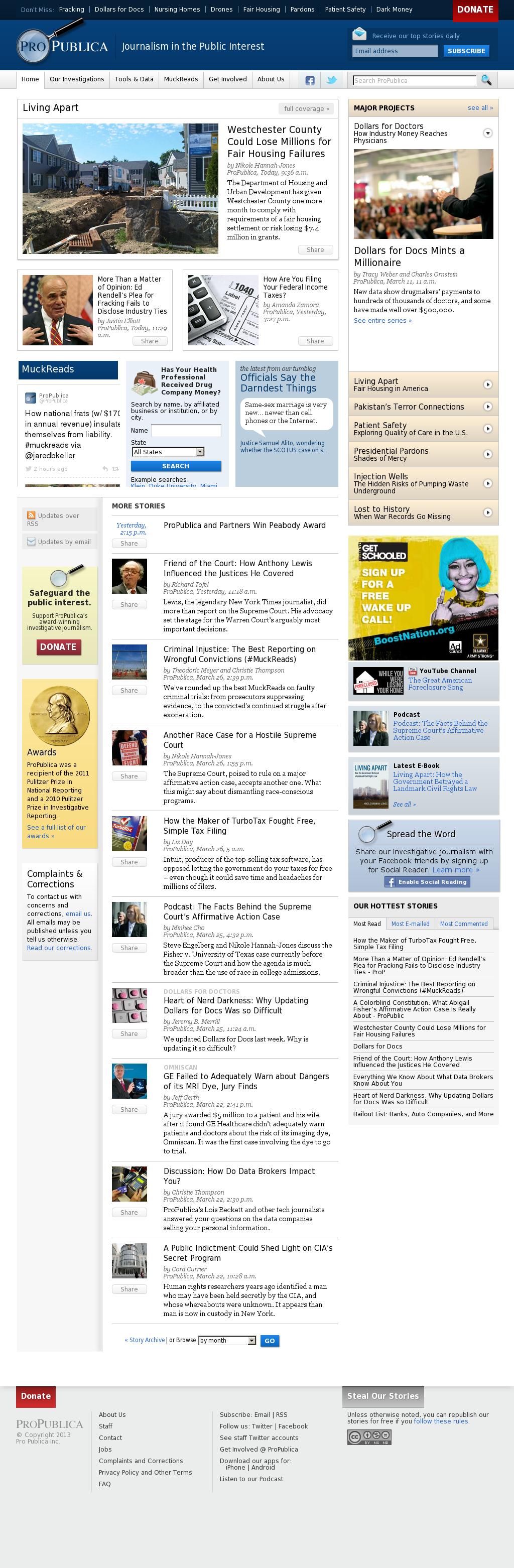 ProPublica at Thursday March 28, 2013, 5:17 p.m. UTC
