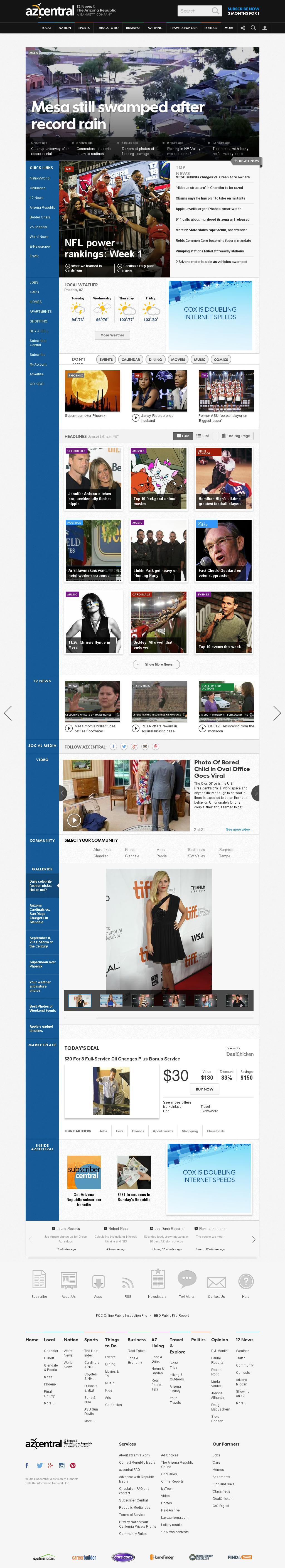 azcentral.com at Tuesday Sept. 9, 2014, 11 p.m. UTC