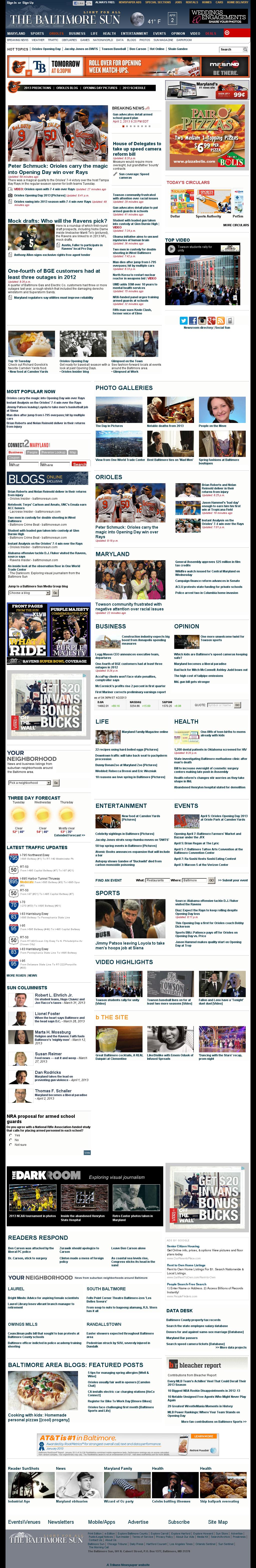 The Baltimore Sun at Wednesday April 3, 2013, 2:01 a.m. UTC