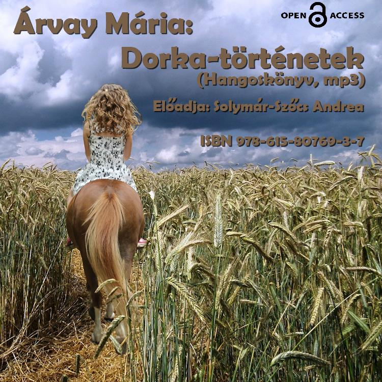 A Borító kép: A háttérmotívum egy fényképet tartalmaz, az előtérben betűk vannak feliratozva a szerző, a cím, az ISBN szám és az előadó neve. A háttérmotívum a következő: Egy nyári vihar előtti, borult ég, egy lovon ülő lány vág át ballagva egy félig érett, zöldes búzamezőn. Nekünk a ló is és a lovas lány is háttal van. A lány körülbelül 12-15 éves lehet. Szőke, bodros, váll alá érő, dús haja van és egy zöldes virágmintás bézs alapú, spagettivállas egyberuhában van, ami szoknyácskában végződik. A kengyelben rózsaszínű tornacipő sejlik. A barna lónak csak a fara látszik és a hátsó lábai, amelyek fehér zokniban végződnek. A búzatábla hullámzik körülöttük. Látszik, hogy a lány mindig erre jár, mert a búzatáblában látszik egy csapásirány, amin járni szoktak. A kép világos színű, csak a fehér fellegek alja sötét.