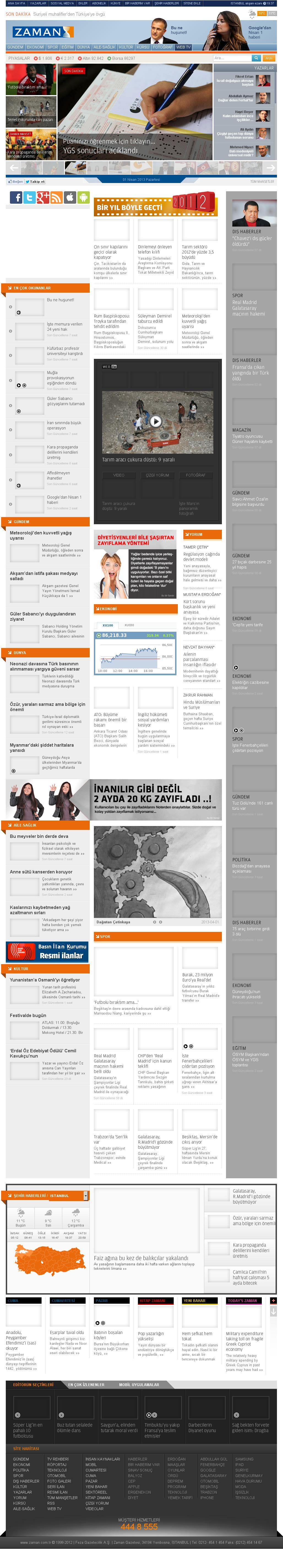 Zaman Online at Monday April 1, 2013, 2:25 p.m. UTC