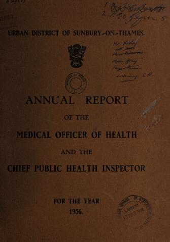 Cover of: [Report 1956] | Sunbury (England). Urban District Council