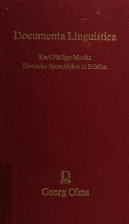 Cover of: Deutsche Sprachlehre in Briefen | Karl Philipp Moritz