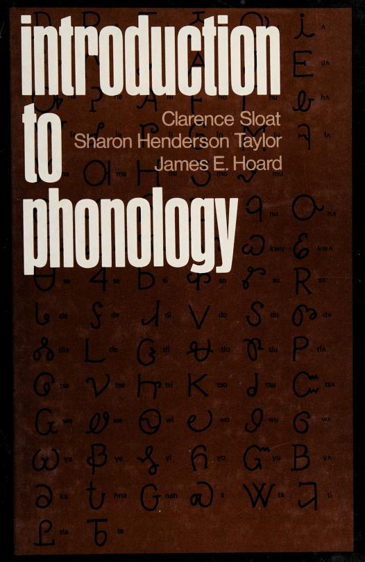 Introduction to phonology by Clarence Sloat