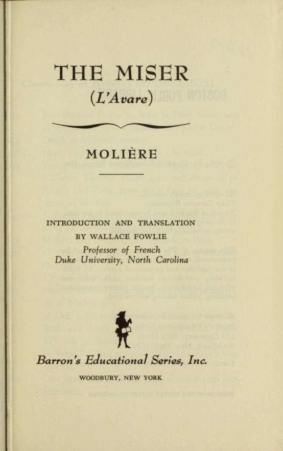 The miser by Molière